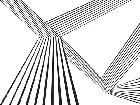 black and white mobious wave stripe optical abstract design Ilustração