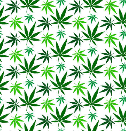 cannabis marijuana leaf vector seamless pattern
