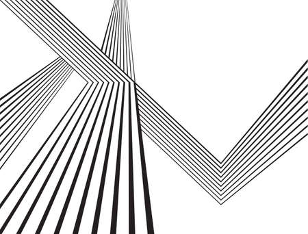 black and white mobious wave stripe optical abstract design Illustration