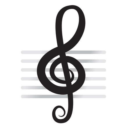 violin background: violin key sign vector music symbol black