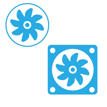 airflow: vcentilator fan propeller vector symbol icon Illustration