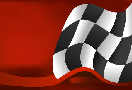 horizontal line: race background checkered flag wave design