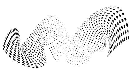 morphing: dotted background morphing design