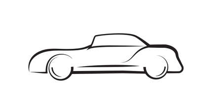 car side view: car side view line outline silhouette drawing