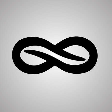 unlimited: infinity symbol unlimited sign icon Illustration
