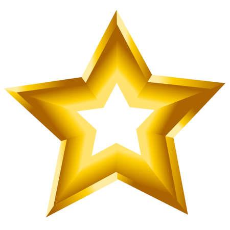 3d star: 3d star illustration symbol golden Illustration