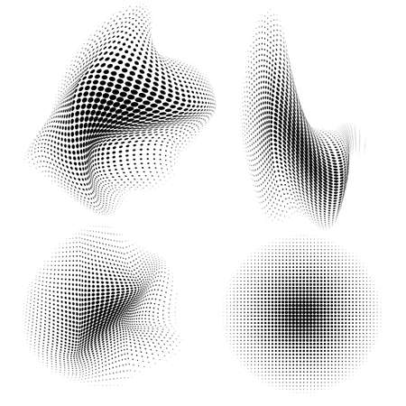 dotted background morphing design