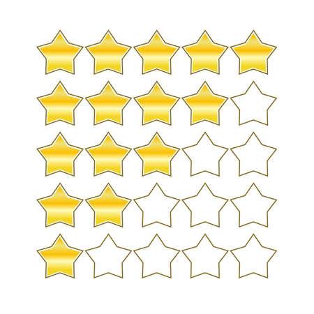 estimation: rating stars design symbols icons