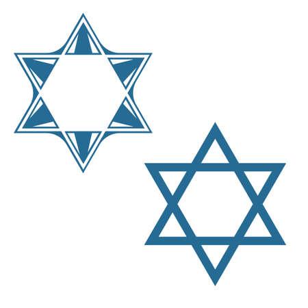 hvězda: david hvězda židovskou hvězdu vektoru symbolů designu