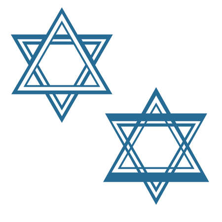 jewish star: david star jewish star symbol design Illustration