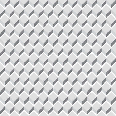 Grayscale, monochrome seamless pattern, background cubes