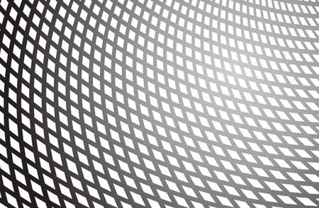 tunnel vision: optical art background black and white vector