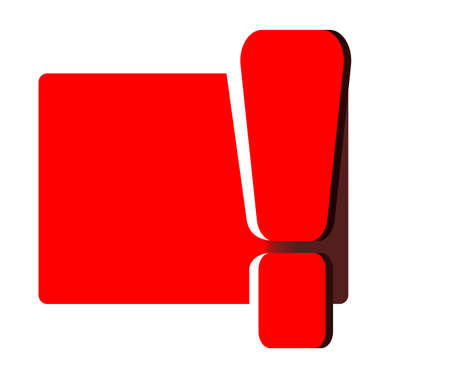 interjection: Red exclamation mark , isolated on white Illustration