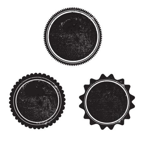 Grunge Stempel schwarz templeta Vektor mit Texturen Standard-Bild - 45501105