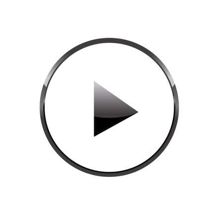 Einfache abgerundete Kreis Play-Taste für Multimedia, starten Video, Musik und Aktivierungskonzepte Standard-Bild - 45501113