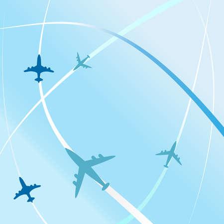 flightpath: clean air travel background design vector