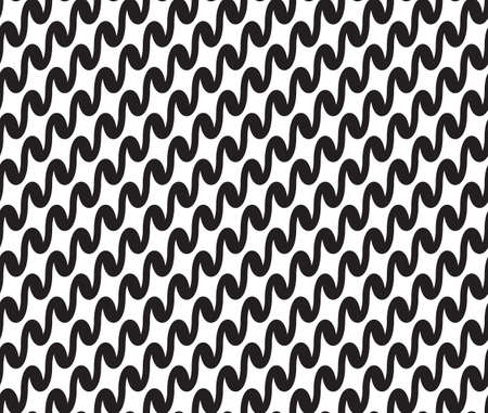billow: Wavy, waveform lines seamless pattern. Illustration