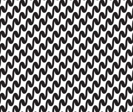 waveform: Wavy, waveform lines seamless pattern. Illustration