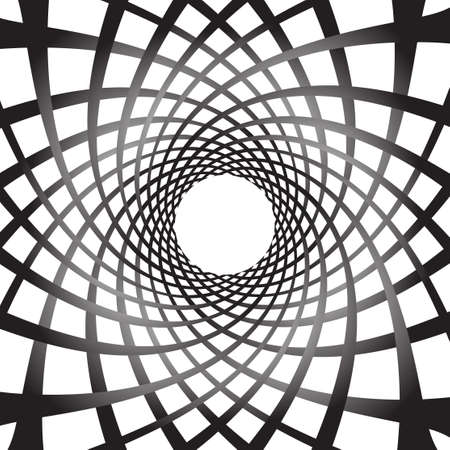 spiraling: Abstract rotating shapes. Dynamic swirling, twirling background