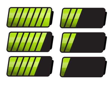 ten empty: Battery Level Indicator Symbols