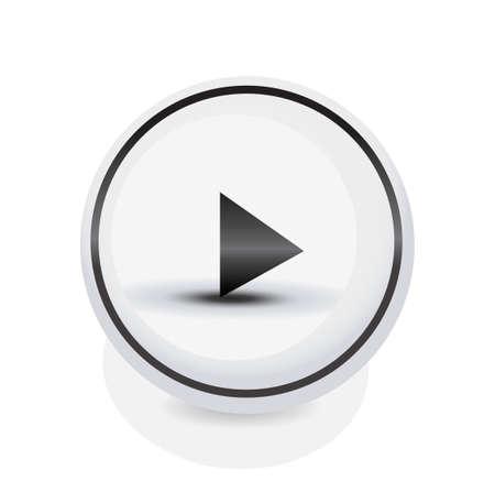 activacion: Simple bot�n de reproducci�n c�rculo redondeado para multimedia, empiece conceptos de v�deo, m�sica y activaci�n