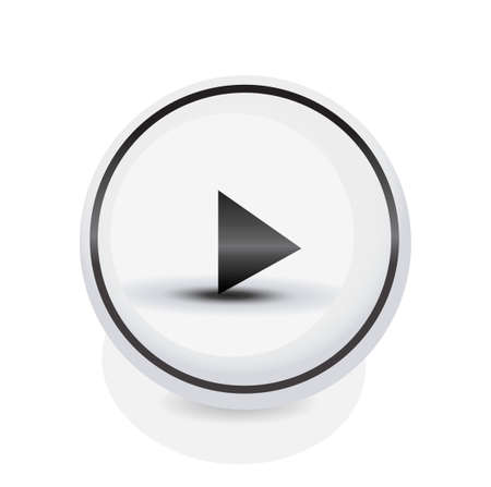 activation: Simple rounded circle play button for multimedia, start video, music and activation concepts