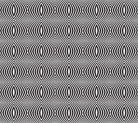 arte optico: seamless optical art pattern background vector black and white