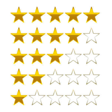 satined: rating stars golden vector symbols icons