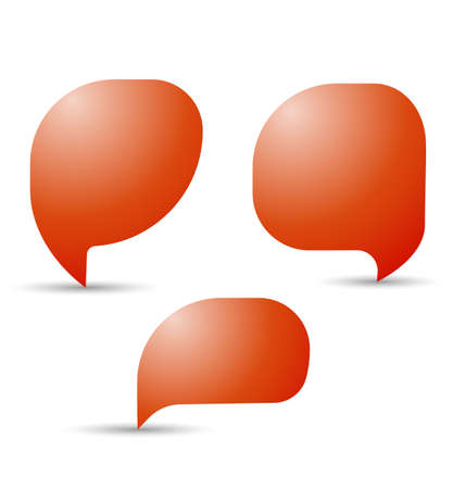 discussion: speech, talk bubbles, communication, discussion, chatting. Vector Illustration