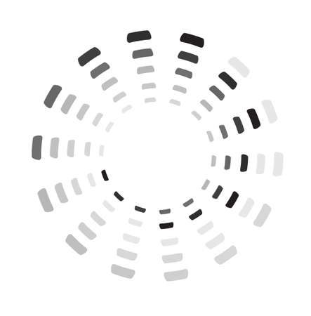 Segmented preloader, buffer shape or progress indicator Stock Illustratie
