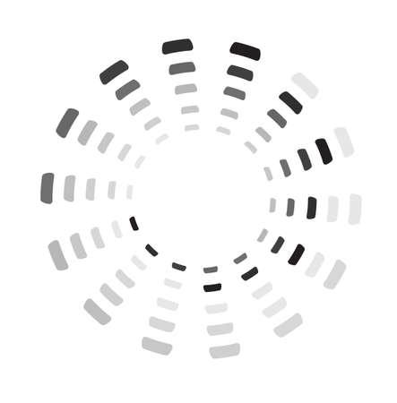 Segmented preloader, buffer shape or progress indicator Vectores