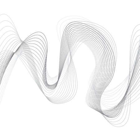 fashion art: abstract wave element for design vector illustration Illustration