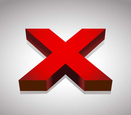 red x: Red x shape, x letter, cross