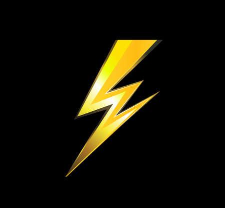 lighting, electric charge icon vector symbol illustration Illustration