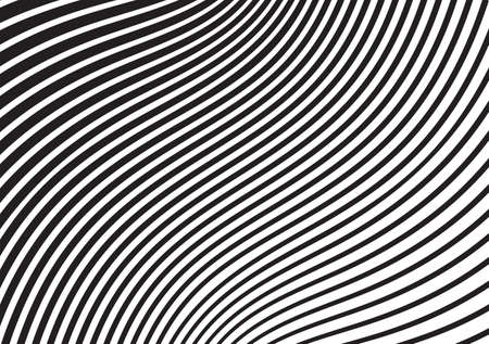 black and white mobious wave stripe optical design opart Ilustrace