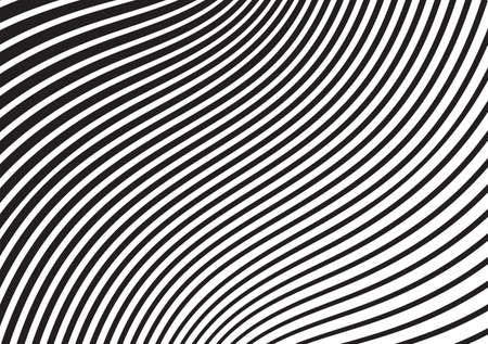 curvas: raya onda Mobious blanco y negro diseño óptico opart Vectores