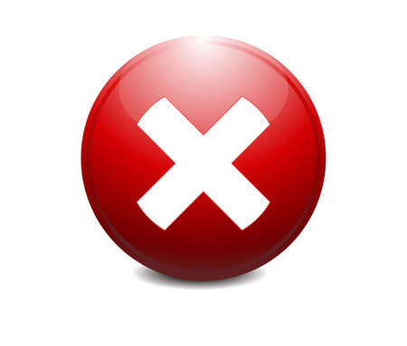 red x: Red cross, red X Shape - Delete, remove or quit, close icon - button.