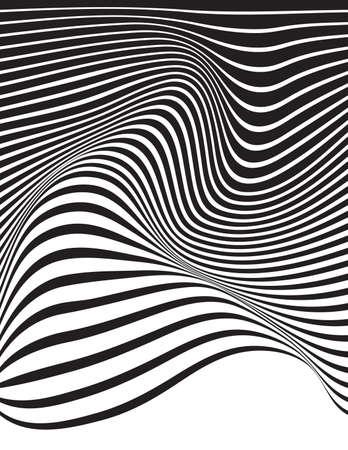 arte optico: arte �ptico Fondo ondulado rayas opart Vectores