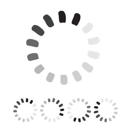 preloader: Segmented preloader, buffer shape or progress indicator Illustration