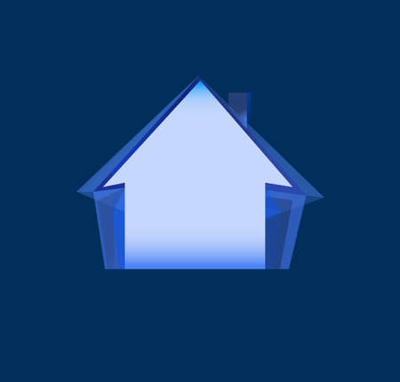 real estate house: Real Estate House Roof symbol Icon Illustration