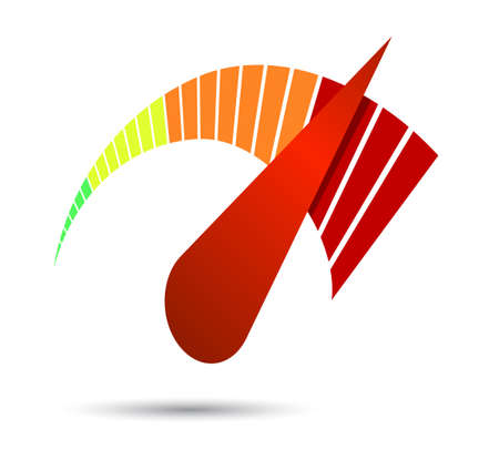 Snelheidsmeters of algemene indicatoren met naalden.