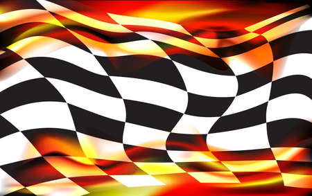motocross race: racing background checkered flag wawing