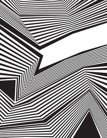 optique arrière-plan de l'art, l'art op, des lignes et des formes de conception straiight noir et blanc