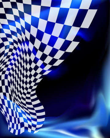 formula one: checkered race flag. Racing flags. Background checkered flag Formula one with space for your text