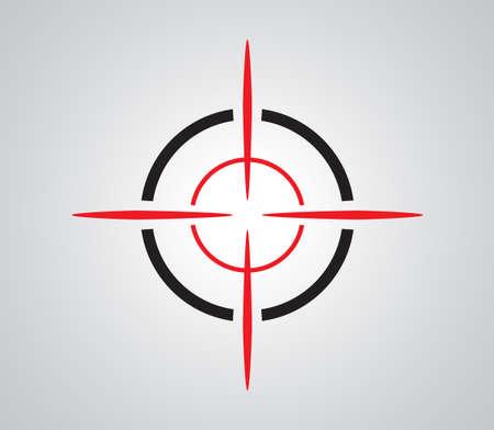 Crosshair, réticule, le viseur graphiques cibles Banque d'images - 51820888
