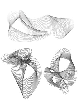 blend: blend design elements grey set of meshes Illustration