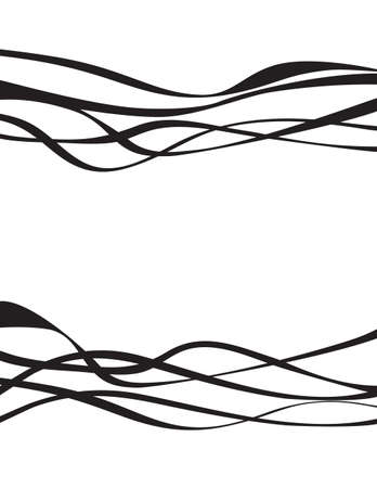 white wave: black and white wave stripe design set