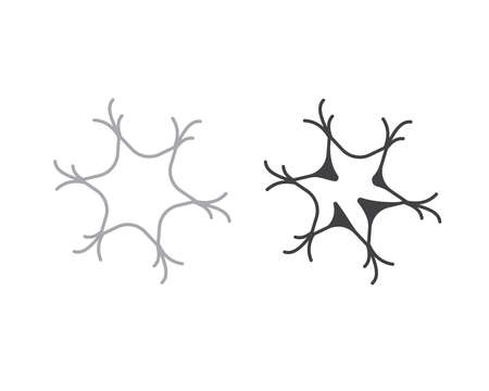 cns: neuron sign design graphic element isolated Illustration