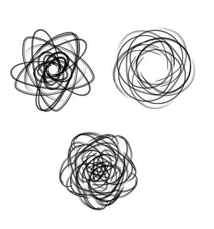 spirograph: spirograph abstract black and white design element Illustration