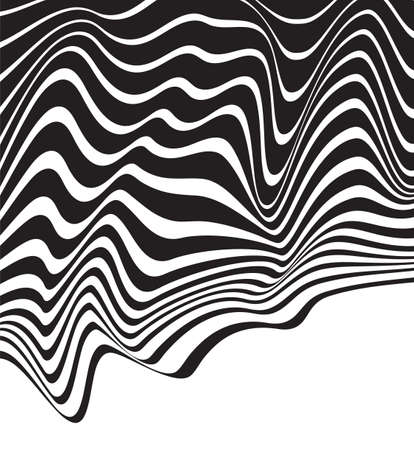 mobius loop: optical art background wave design black and white
